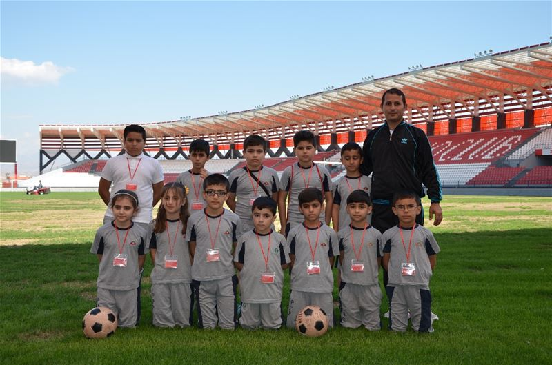 Zakho Students Play Friendly Soccer Game at Stadium