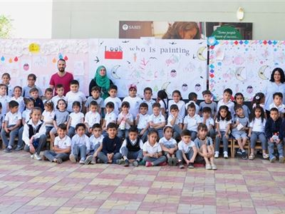 KG 2 Students at Zakho Appreciate Painting Activity