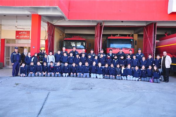 Zakho Students Take an Educational Trip to the Fire Department