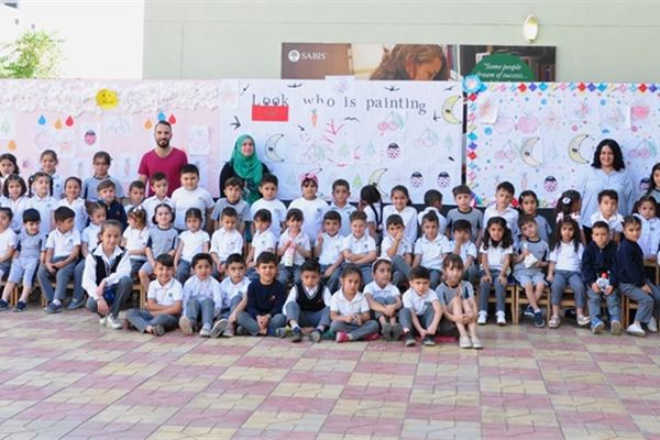 KG 2 Students at Zakho Enjoy Painting Activity