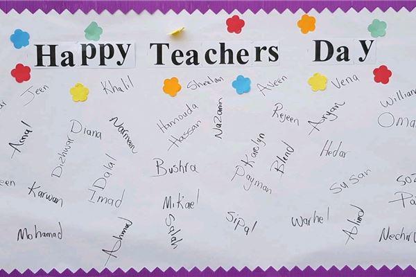 Teacher's Day at Zakho