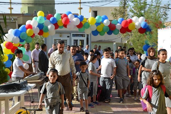 ZAKHO STUDENTS ENJOY THEIR FIRST DAY AT SCHOOL