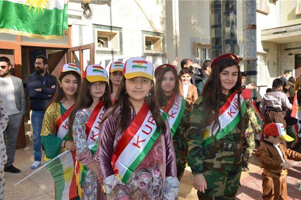 ZAKHO IS STUDENTS CELEBRATE KURDISTAN FLAG DAY