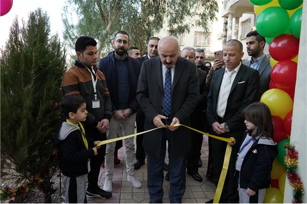 ZAKHO IS SCHOOL STAFF AND STUDENTS CELEBRATE OPENING THE NEW KG1 BUILDING